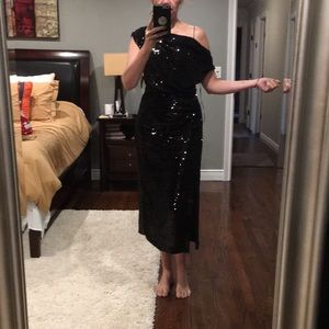 Zara black sequin dress size S